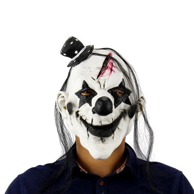 Punk Rock Star Gashed Forehead Clown Mask