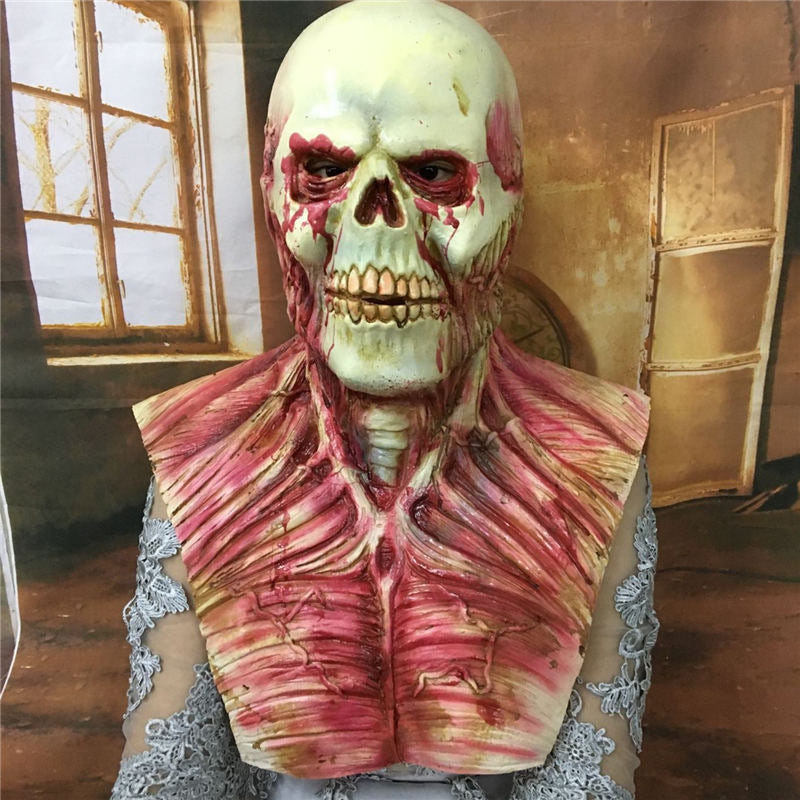 Bloody Zombie Skull Full Face and Chest Mask