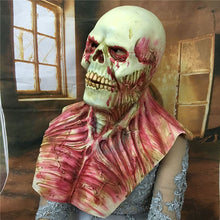 Load image into Gallery viewer, Bloody Zombie Skull Full Face and Chest Mask
