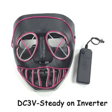 Load image into Gallery viewer, Purge Two Tone LED Light Up Dance Rave Halloween Party Mask