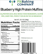 Load image into Gallery viewer, Blueberry High Protein Muffins- 4 Pack