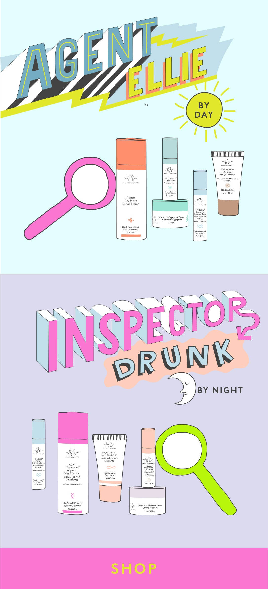 Shop our Agent Ellie & Inspector Drunk Kits