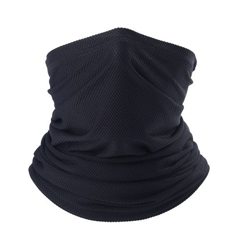 Tactical pull over elastic neck gaiter face mask