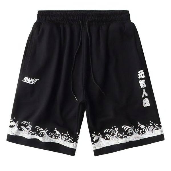 Street style sport black short made of comfortable cotton