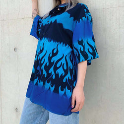 Blue Flame Tie Dye Shirt