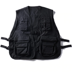 Black tactical Military Vest sleeveless streetwear