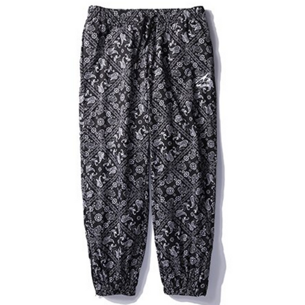 Pants Men Pattern Printed Track Harem Pants High Street Hip Hop Fashion Joggers Elastic Trousers Sweatpants Streetwear