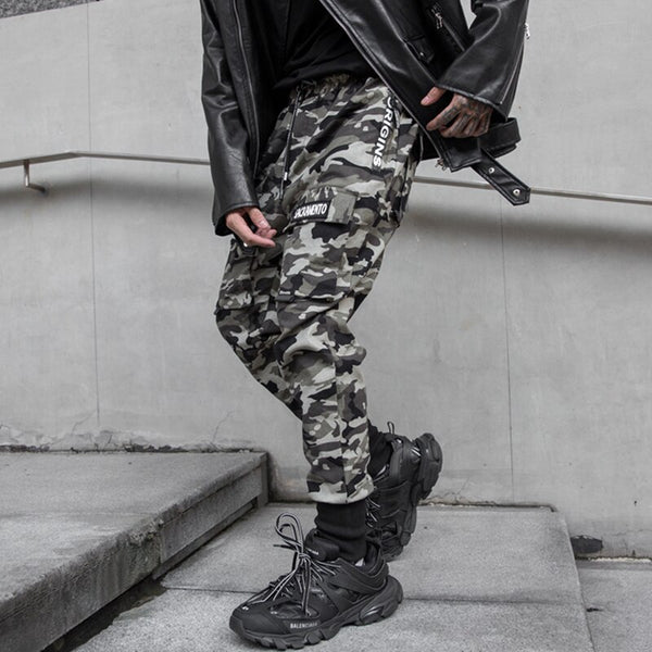 Camouflage Pencil Pants Men Fashion Streetwear Joggers Hip Hop Casual Trousers Male Dancing Pant Camo