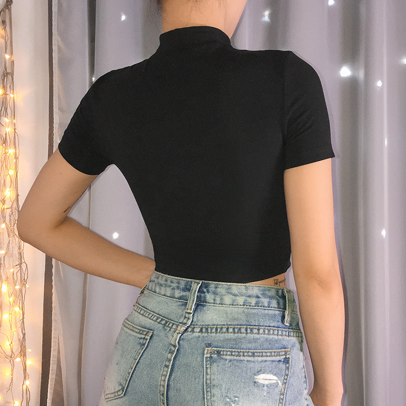 Buckle Cropped Tee