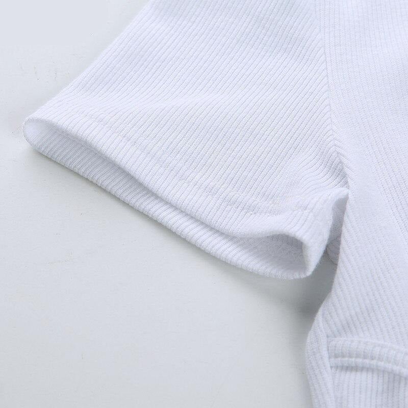Essential Cropped Tee in White
