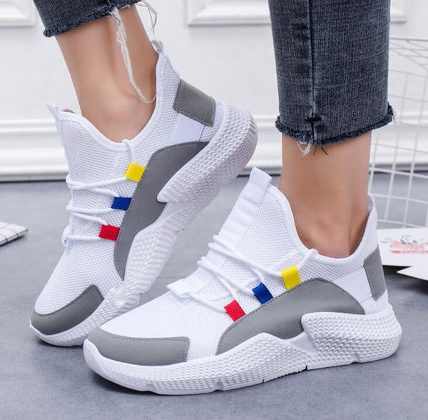 Women Schoolgirl Fashion Lace-up Air Mesh Casual Sport Shoes Loafers Sneakers women shoes zapatos de mujer