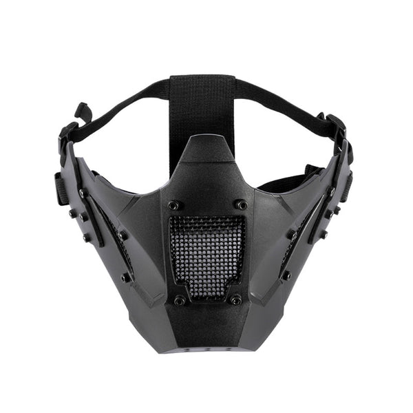 Tactical mesh mask. Functional and protective cybergoth wear