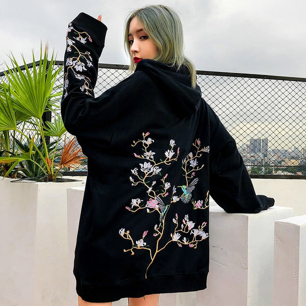 Blossom Tree Hoodie | Sakura Back Model