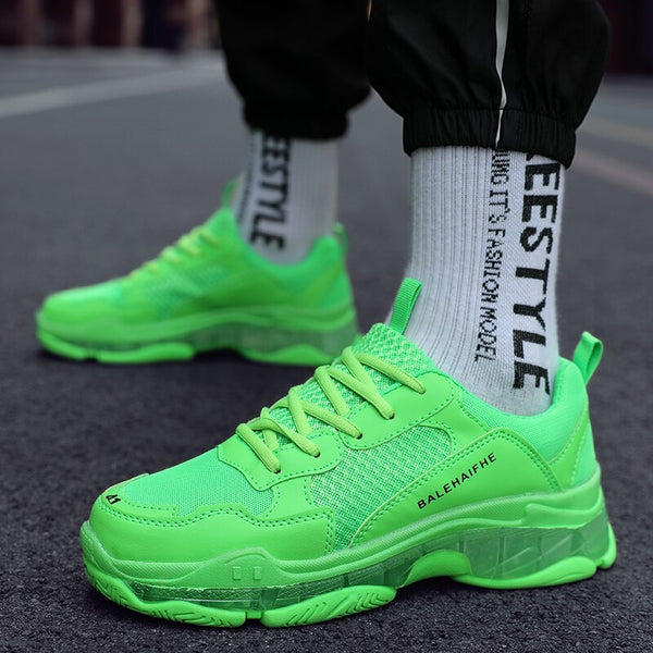 2019 Fashion Couple Shoes Platform Sneakers for Women/Men Chunky Casual Dad Shoes Women Thick Sole Ladies Jelly Shoes