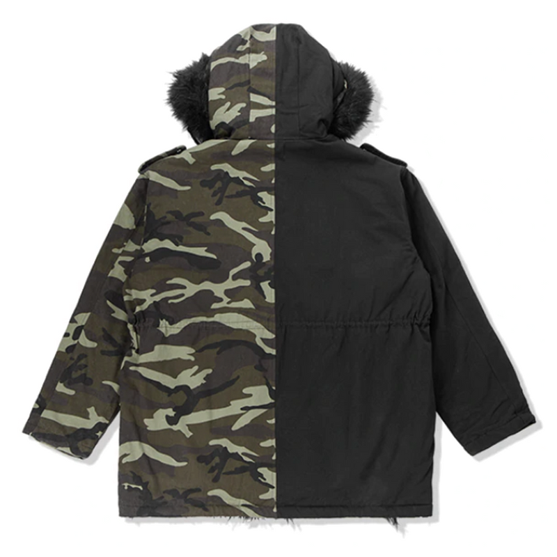 Camouflage Spliced Parka