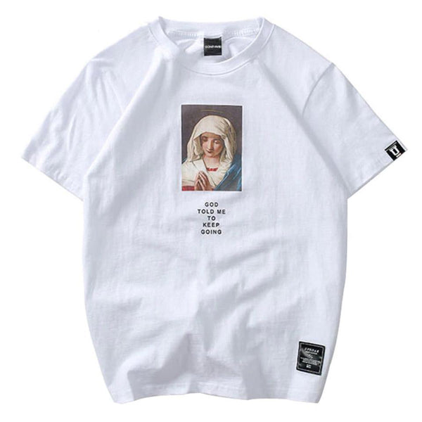 Virgin Mary Printed Tee