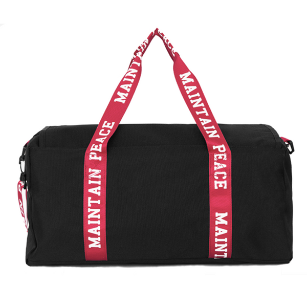 Maintain Peace Black Travelbag