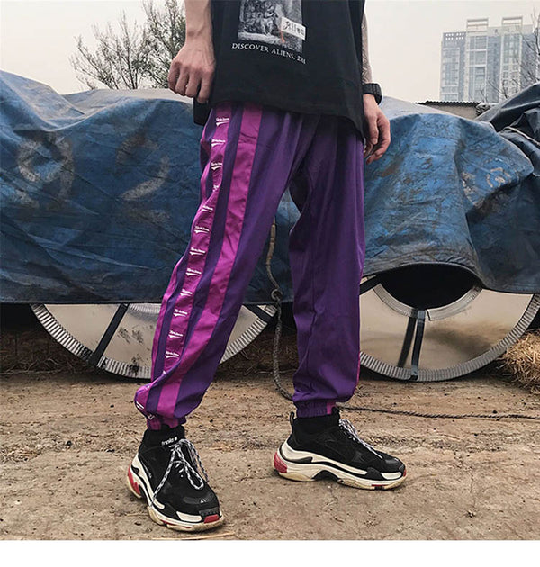 Wide Side Stripe Pants Jogger Men Harajuku Sweatpants Fashion Casual Trousers Hip Hop Pants Streetwear Track 2018 Summer Autumn
