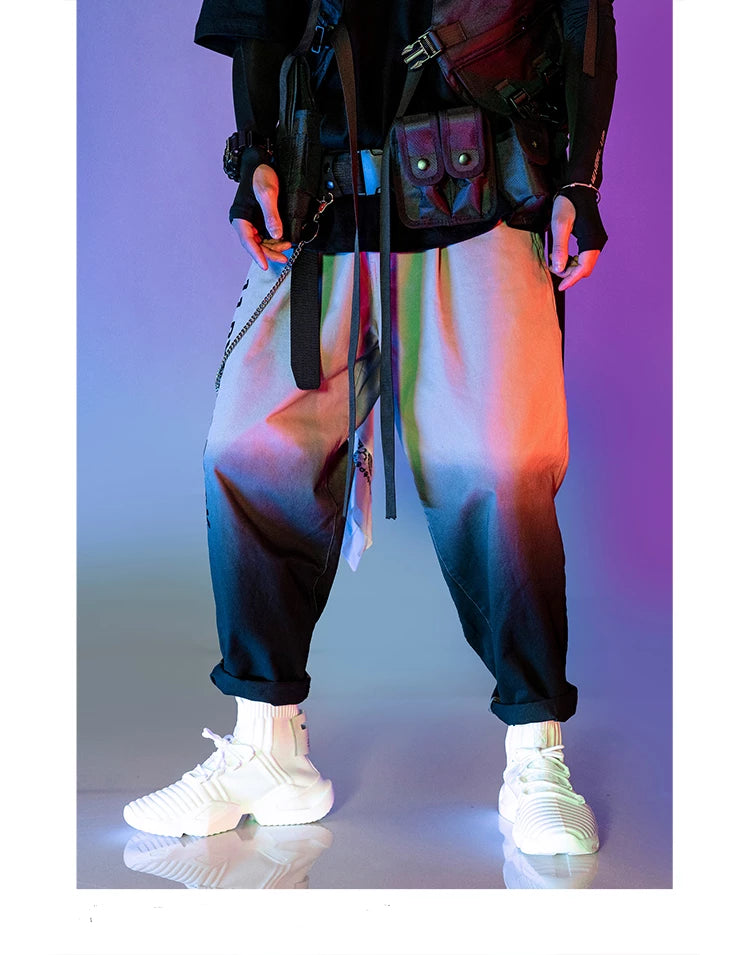 UNSETTLE Mens color gradient pants cotton sweatpants trendy hiphop male streetwear joggers mens fashion trousers