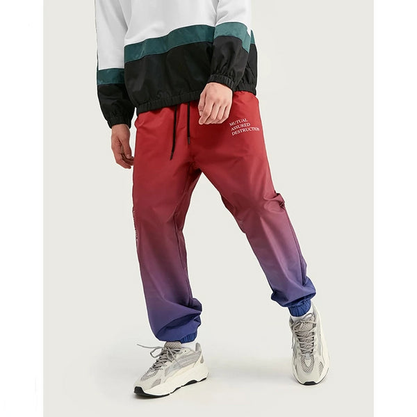 FW Men Die Dye Cargo Pants Loose Fit Men Thin Cargo Pants Elastic Waist Men Streetwear Tie Dye Pants 93420W