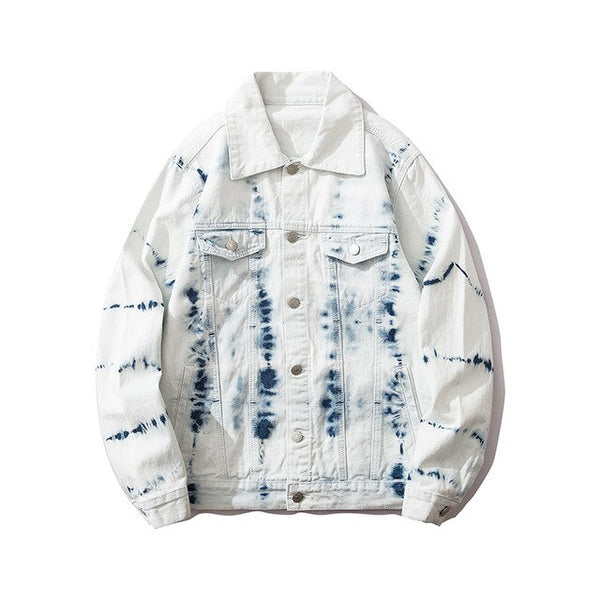 Distress White Denim Jacket