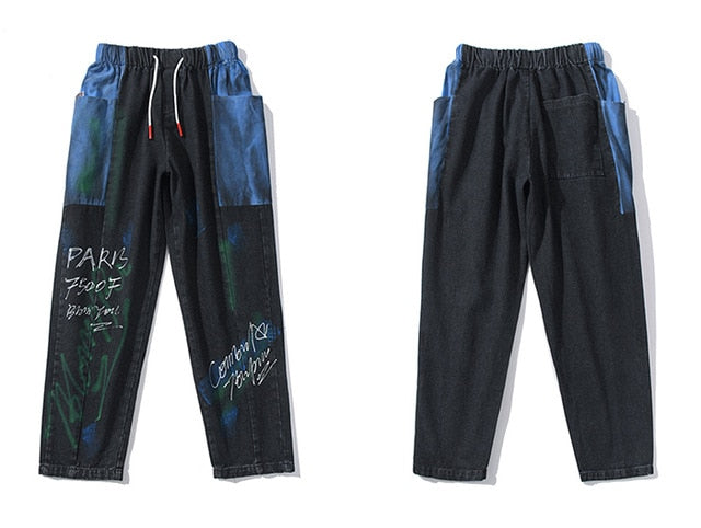 Paris Spray Paint Pants