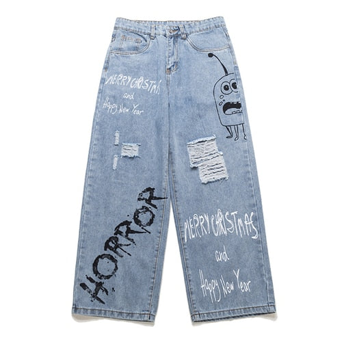 Horror Denim Pants