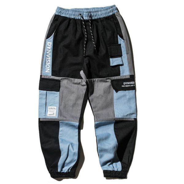 Blue Patchwork Jogger