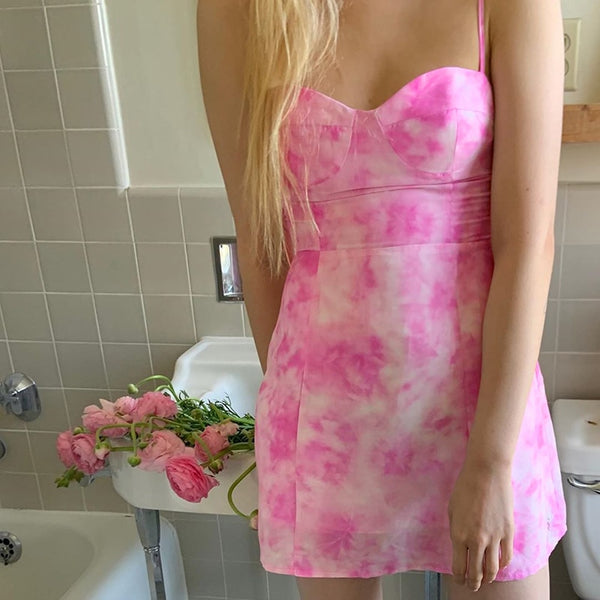 Sweetheart Tie Dye Dress