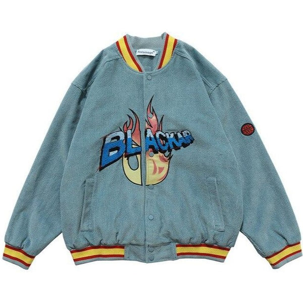 Flame Resource Corduroy Bomber Jacket