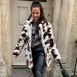 Milk Cow Fur Jacket