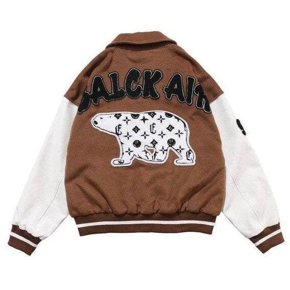 Furry Bear Bomber Jacket
