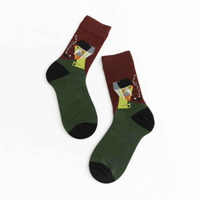 Abstract Van Gogh Socks