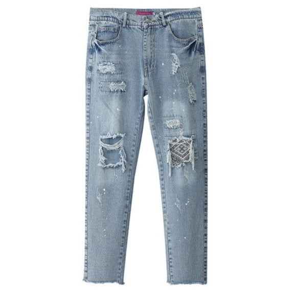 Broken Pillar Denim Pants