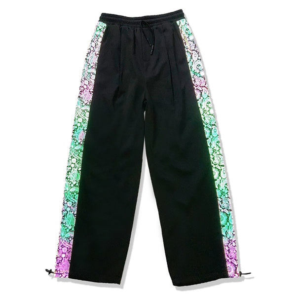 Reflective Paisley Pants