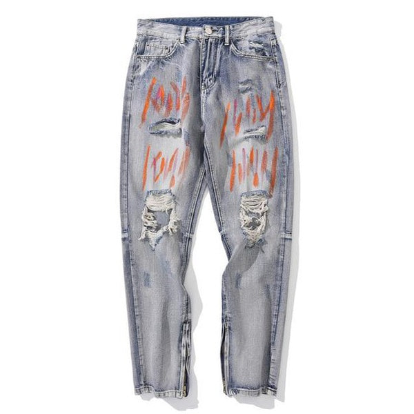 Grafitti Denim Pants