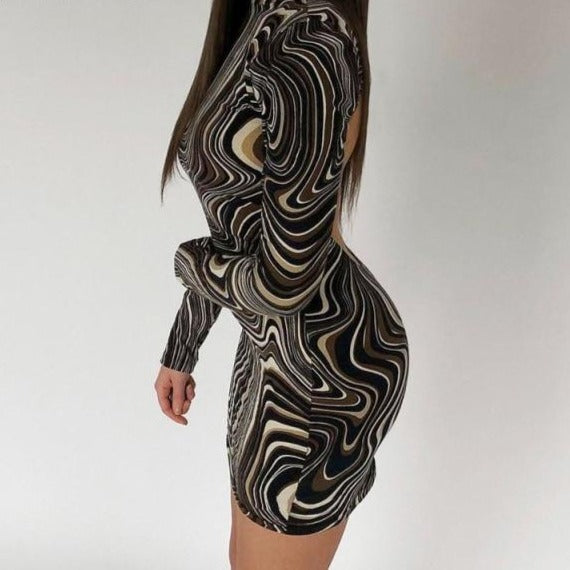 Twirl Backless Dress