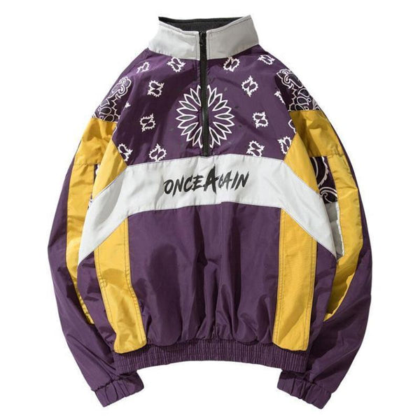 Purple Blossoming Windbreaker