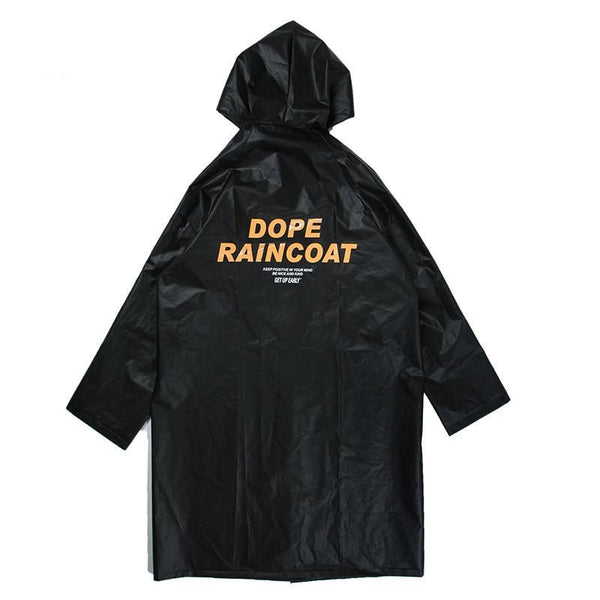 Black Dope raincoat jacket