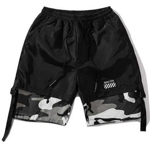 Black and white camo short pants for the  best street tactical Koran style this summer 2019