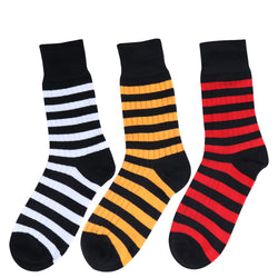 White, yellow and red black streetwear socks