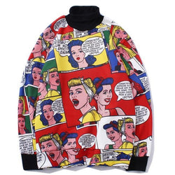Cartoon Vestibulum Sweatshirt