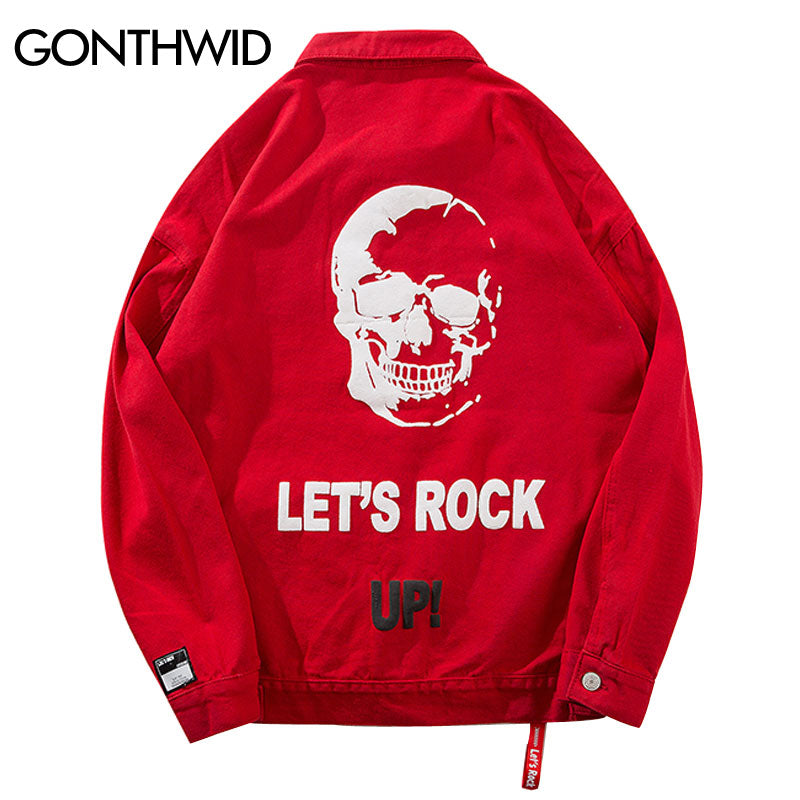 GONTHWID Hip Hop Men Printed Denim Jean Jackets Fashion Casual Vintage Denim Jacket Male 2018 Autumn Streetwear Jacket Coats