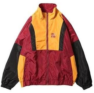 Yellow and wine Unusual 90s Windbreaker