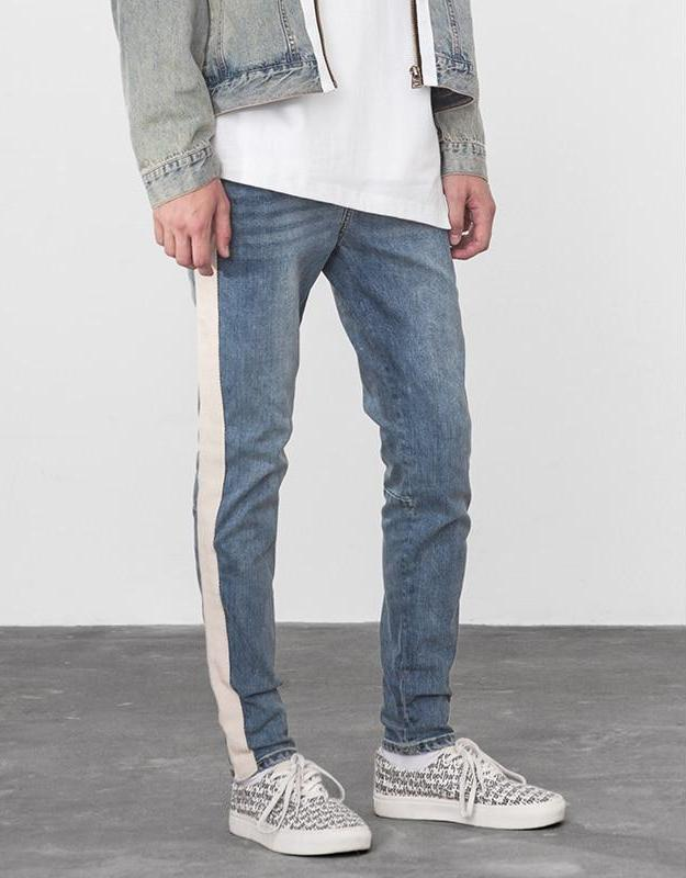 Stripe Stretchy Jeans