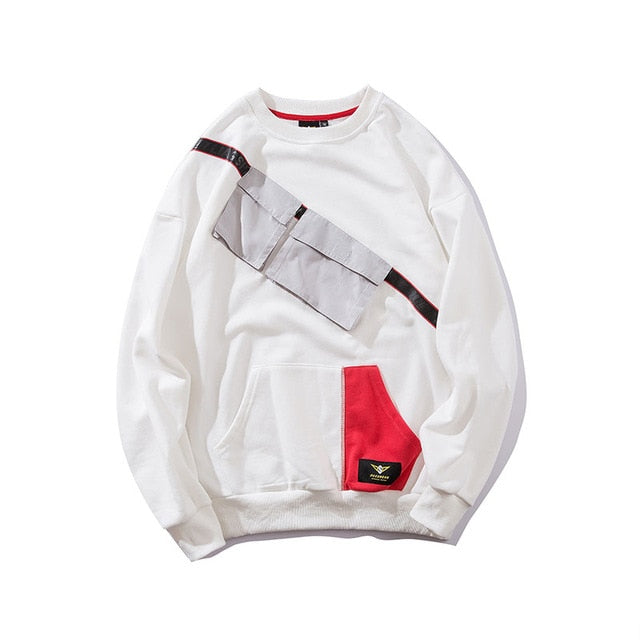 White O-neck Homeless Pullover