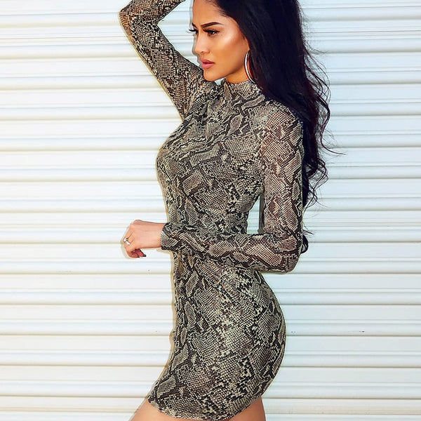 Exotic Skin Mini Dress