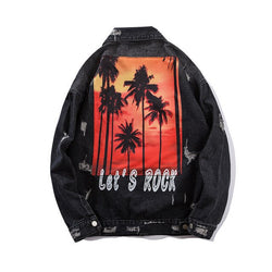 Palm Trees Denim Jacket
