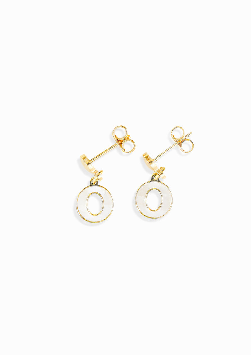 Haus of Dietrich Capri Mother of Pearl Drop Earrings