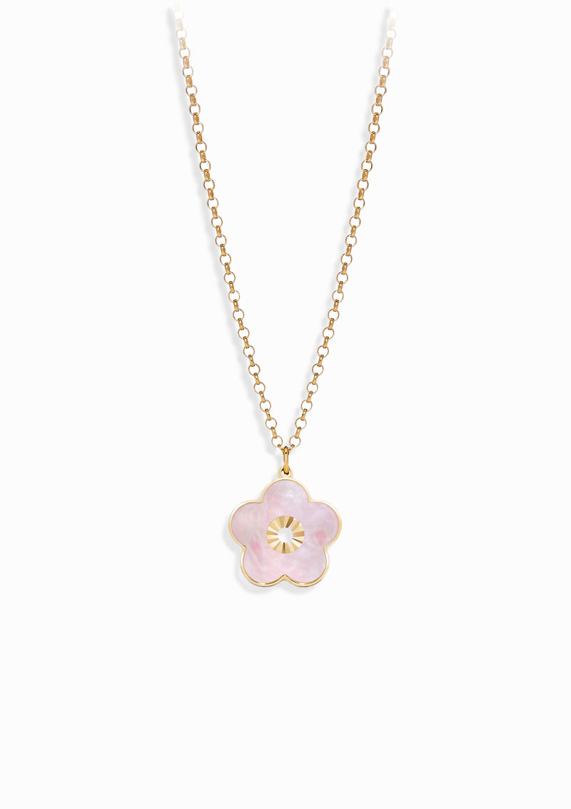 Haus of Dietrich Capri Flower Mother of Pearl Necklace
